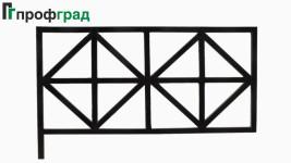 Ограда ритуальная - артикул 006