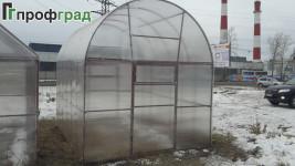 """Теплица коньковая """"Профградочка"""" с арочной крышей"""