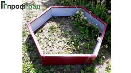 Огрядки шестиугольник из оцинкованной стали сторона 0,5м
