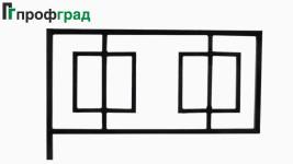 Ограда ритуальная - артикул 004