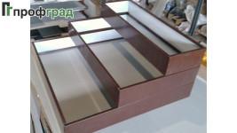 Орядки из оцинкованной стали для цветника из 3-х уровней