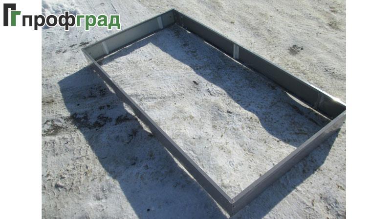 Ограждение для грядок прямоугольник ширина 1м. длина 2м.,3м., 4м., 5м., 6м, и т,д. высота 170мм